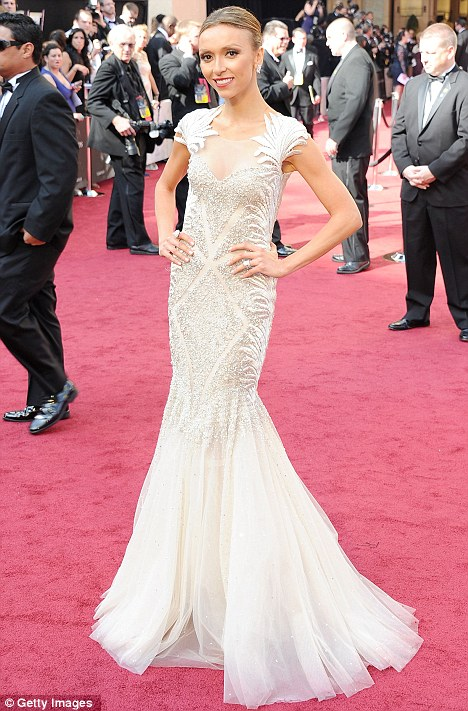 Theatrical: Rancic's heavenly gown had an flamenco air about it