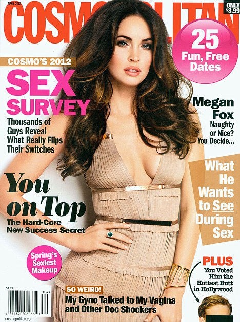 Foxy lady: Megan Fox stuns on the March 2012 cover of Cosmopolitan magazine