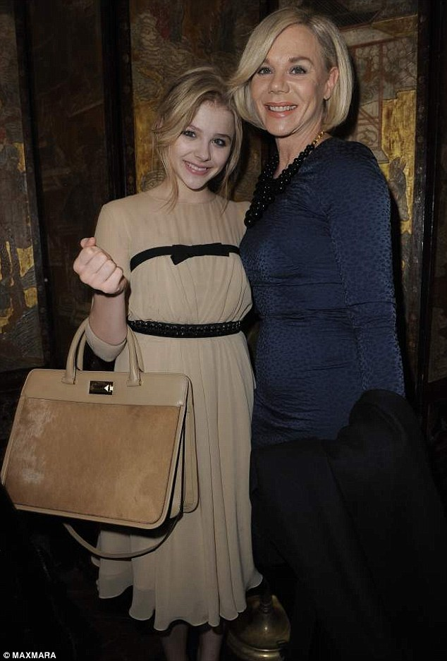 Proud mother: Chloe attends the dinner honouring her as women in film MaxMara face of the future