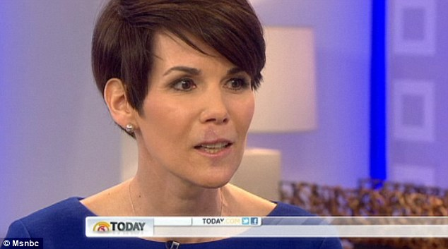 Healing process: TV anchor Kyle Dyer admitted on the Today show that she got too close to the 85-pound dog that bit her face