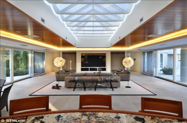Luxury: The private-gated residence where Jordan lived with his former-wife, Juanita, and their three children is to be sold furnished