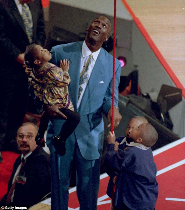 Family man: Jordan with kids Jasmine, Jeffrey and Marcus in 1994. The house was their primary family home