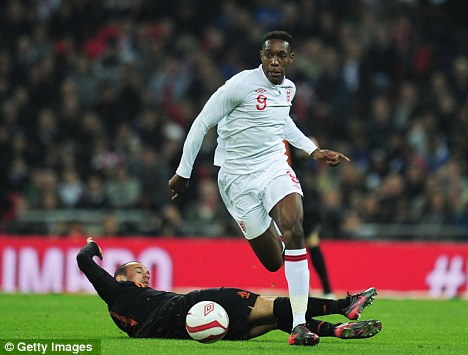 Class act: Danny Welbeck did not look out of his depth playing international football
