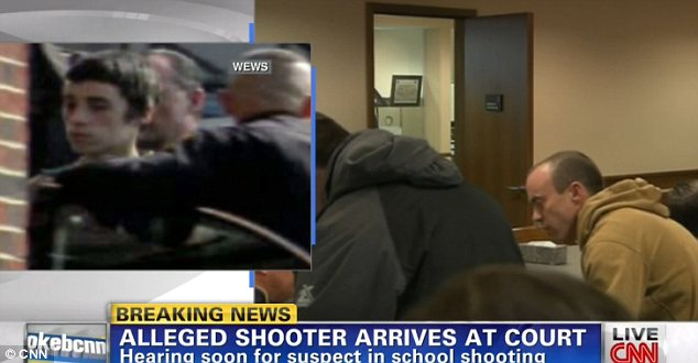 Appearance: This video grab shows the alleged Chardon High School shooter arriving at court in Ohio