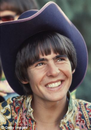 In his pomp: Davy Jones on the set of the television show The Monkees in March 1968 in Los Angeles, California