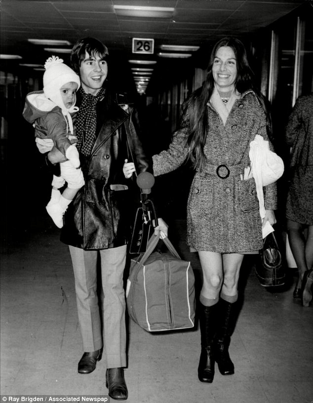 Davy Jones with his wife Linda and their daughter Talia, aged 15-months at the time, in 1969