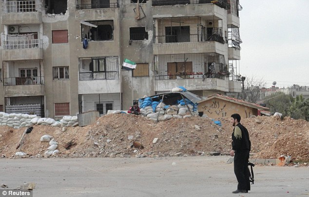 Lone resistance fighter: The embattled neighbourhood of Baba Amr, where Ms Colvin was killed