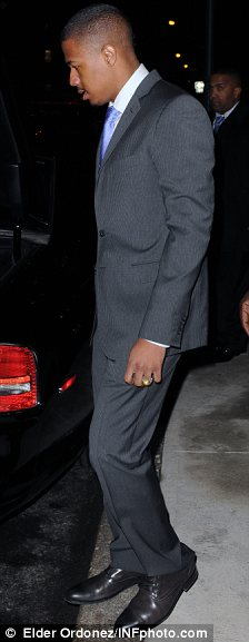 Stepping out: Nick and wife Mariah visited Gotham Hall last night, Nick has said he is now putting his health first