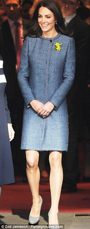 Wardrobe malfunction? The Duchess of Cambridge wore a M Missoni coat at Fortnum & Mason yesterday