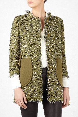 A M Missoni coat was recently on sale at my-wardrobe.com with a similar frayed look