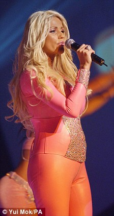 First attempt: The glamour model attempted to represent the UK in the Eurovision Song Contest in 2005, but missed out to singer Javine