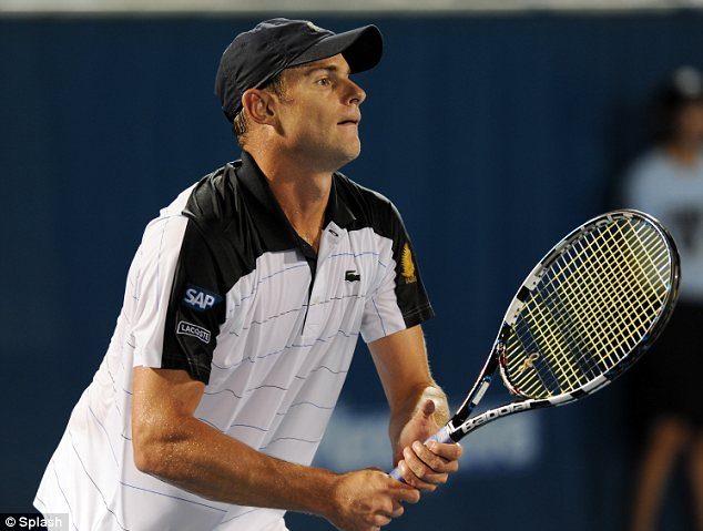 He's an ace! Brooklyn's husband Andy Roddick won the match