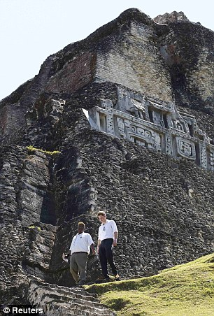 Climb every mountain: The ruins are the former home of the Mayan civilisation of Central America