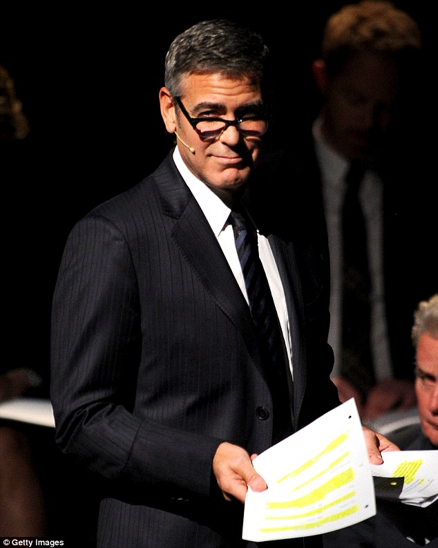 Playing his part: Clooney turned in a performance as one of the attorneys who in real life argued against the same-sex marriage ban