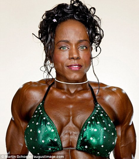 Dedication: Female bodybuilders train for years to build up the muscle definition required to compete in professional events