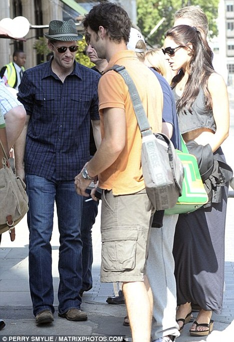 She's a wonderful person: Matthew, seen here with Kelly Brook last summer, denied calling her 'not the brightest bulb'