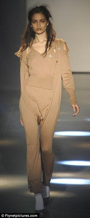 Vivienne Westwood's Paris Fashion Week show featured cardi-leggings