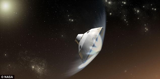 Speedy: The Mars Science Laboratory spacecraft, with Curiosity inside, will hit the Martian atmosphere at 13,200mph