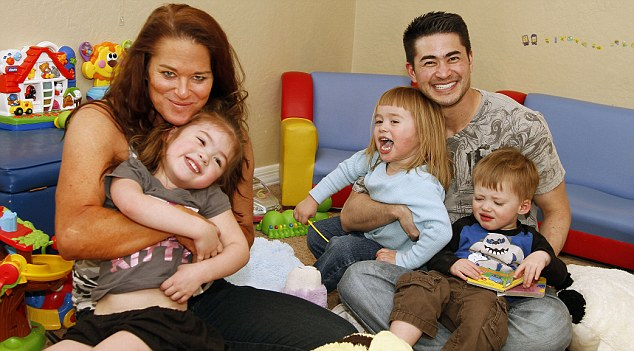 Nancy and Thomas, with their children Susan, Austin and Jensen before their split was announced