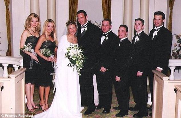 Happier times: The 'madam's third wedding in Las Vegas to Kelvin Gorr approximately ten years ago