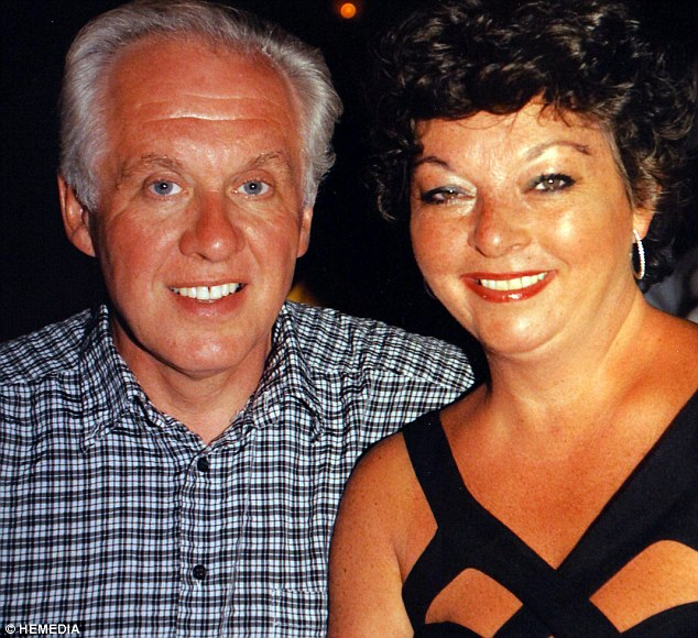 Happy memories: Louise with her husband Gerry who died suddenly three years ago, aged just 63