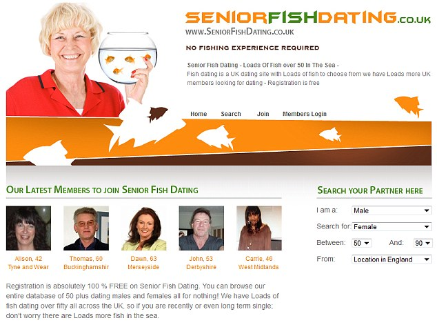 Louise posted a picture of herself on her profile on the senior dating website www.seniorfishdating.co.uk