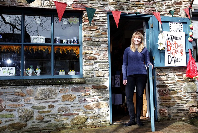 Entrepreneurial spirit: Ms Balchin opened her gift shop just ten days after her 17th birthday