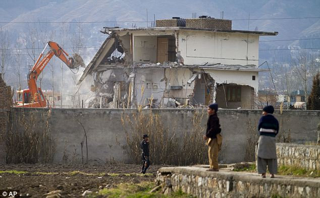 Going, going, gone: The compound was destroyed last year to prevent it from becoming a pilgrimage