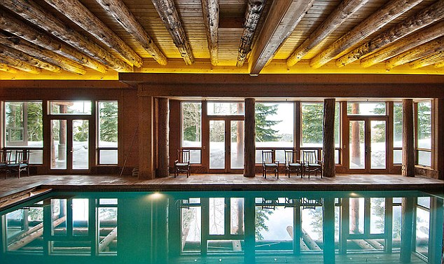 Dip in: the extravagant property boasts an indoor pool and a fitness centre