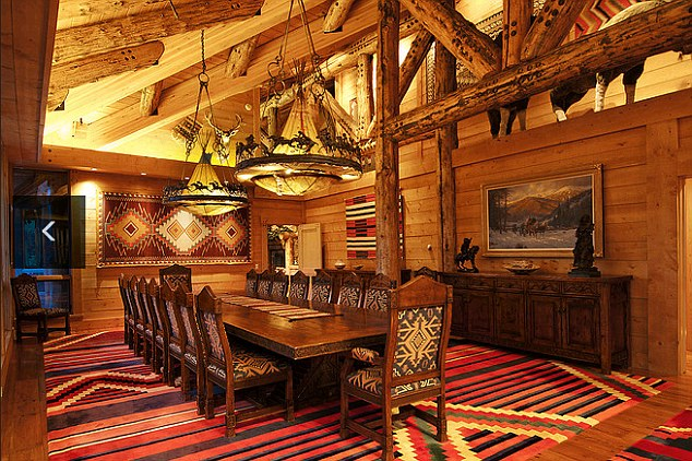 Exclusive: Jon Huntsman Sr's 22,000-square-foot house in Park City ski resort has a dining room that seats 20