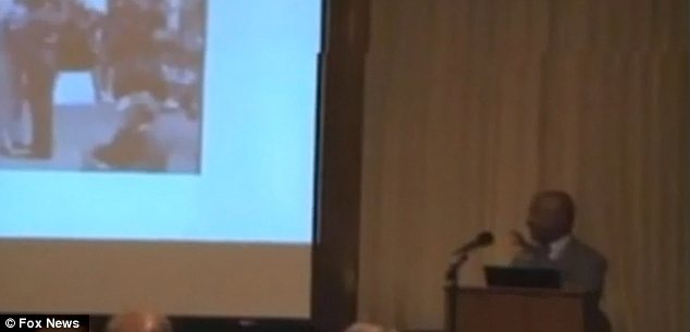 Lecture: Charles Ogletree showed the video to a group of students and admitted he had tried to hide it