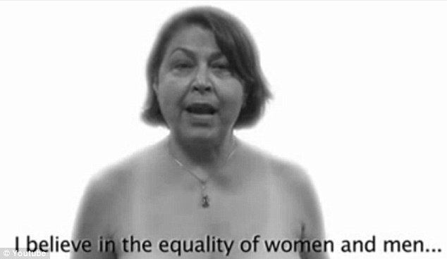 Show of strength: The video has been produced to support a nude calendar, which has been released to mark International Women's Day