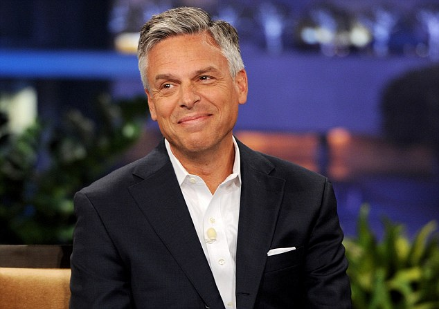 Drop out: Jon Huntsman pulled out as a Republican presidential candidate in January, his billionaire father is believed to have bankrolled his failed campaign