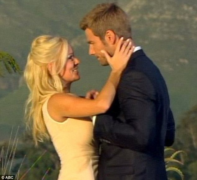 Hopeful: Brad Womack proposed to Emily in the season finale of The Bachelor last year