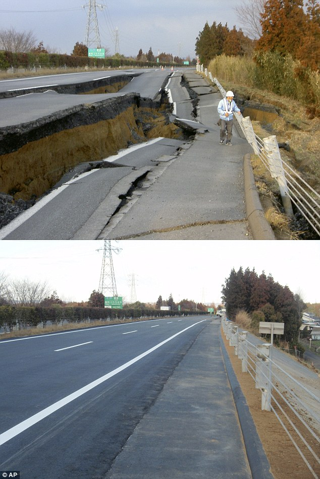 Transformation: Great Kanto Highway in Naka, Japan was rebuilt and resurfaced in just six days