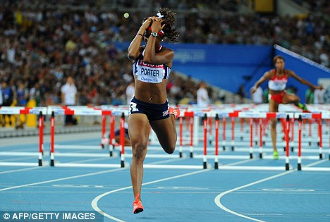 Just missing out: Tiffany Porter finished fourth in the 100m hurdles at last year's World Championships