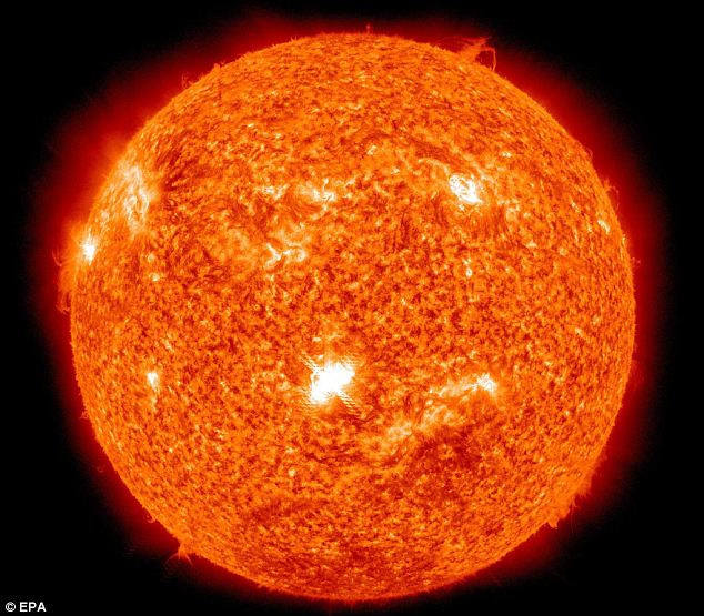 Minimal disruption: Apart from a brief radio blackout we were spared any major electrical problems from the solar flares this week