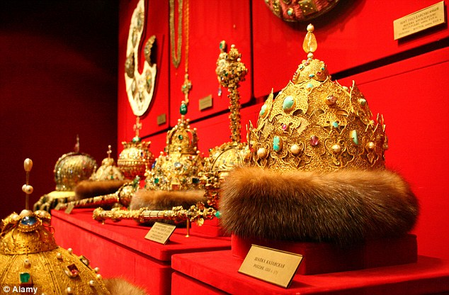 Fur-lined crowns in the Kremlin's Armoury museum