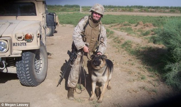 Explosion: The dog handler and Rex survived a roadside bomb together in 2006