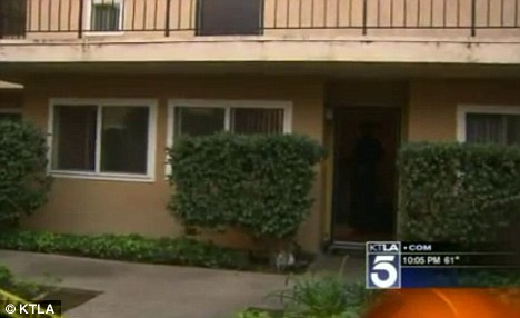 Tragic: A four-year-old girl was found hanging in the bedroom of her family's Los Angeles apartment