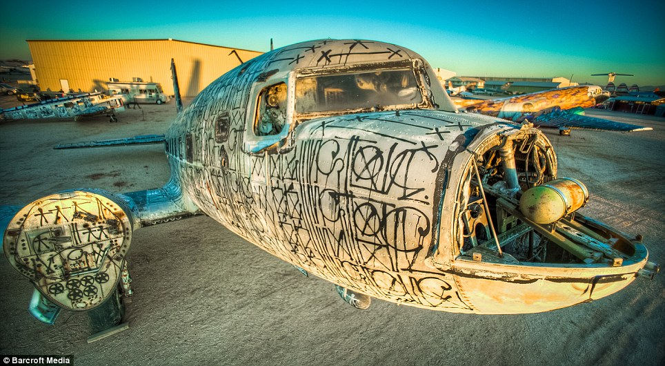 New interpretation: A painted Douglas DC-3, called 'Warning Shot' reimagines the old military plane
