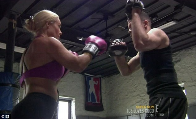 Exercise time: As well as following a new diet plan, Coco was also seen doing a boxing session to keep fit
