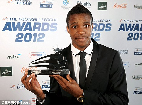 One for the future: Wilfried Zaha was named Young Player of the Year