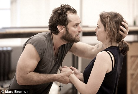 Chemistry: The couple in rehearsals for Anna Christie last year
