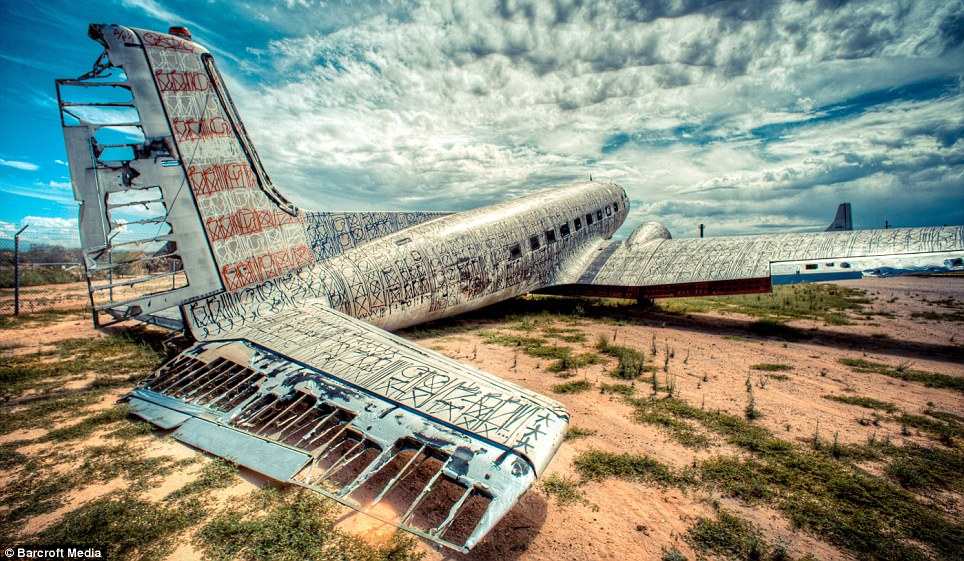 Dead planes: Most of the fighter jets sit in a patch of U.S. desert waiting to be used as spare parts for current models