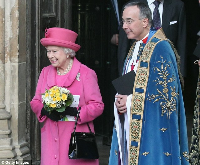 The Queen outside Westminster Abbey after attending the annual Commonwealth Day Observance Service yesterday