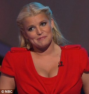 Fighting back: Jessica Simpson pulled no punches when she lashed out at the hopeful on tonight's premiere episode