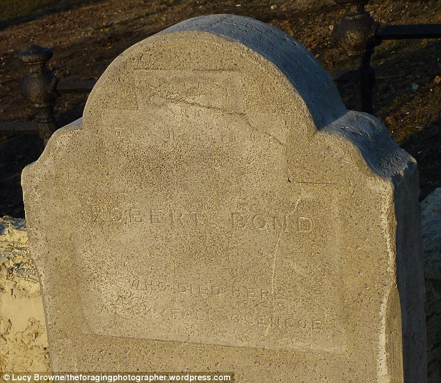 Telling headstone: The grave of Robert Bond - an ancestor of James