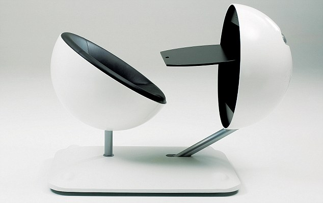 Artifort Globus workstation: With folding table. The globe can be closed at night. From £4,300, classicdesign.it