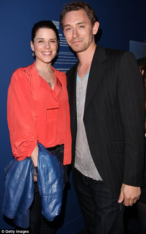 Happy couple: Neve and beau JJ Field are 'thrilled' to be expecting their first child later this year